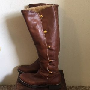 Michael Kors leather tall boots